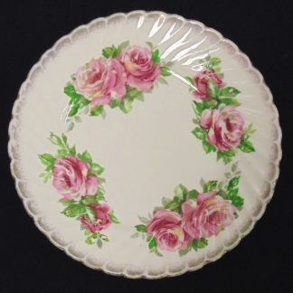 Pink Rose Bread Plate made in England
