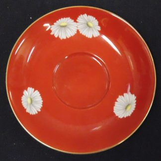 Noritaki Red Saucer with white Flowers