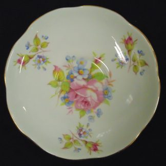 Foley Bone China Saucer with Pink Rose on it