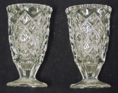 2 Small Glass Vases