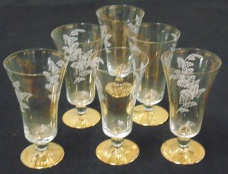 6 Gold Based Parfait Glasses