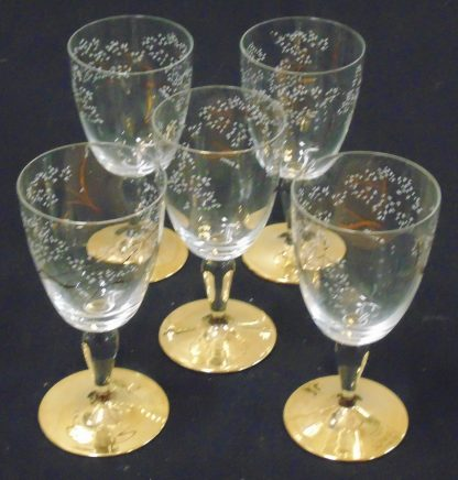 5 Gold Based Parfait Glasses
