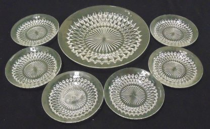 Platter with 6 matching Glass Plates