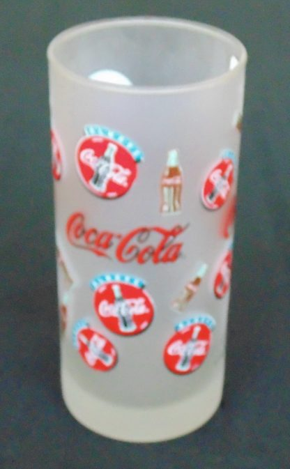Frosted Coca-Cola Glass Multy Badge