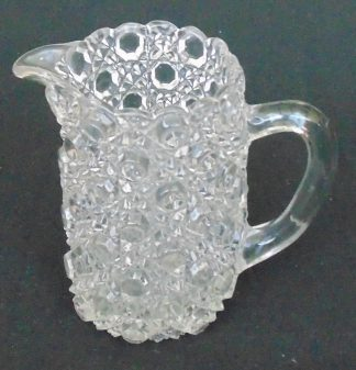 Retro Hob Nail Glass Jug