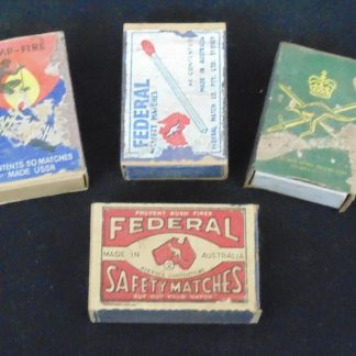 4 Vintage Packets of Australian Matches