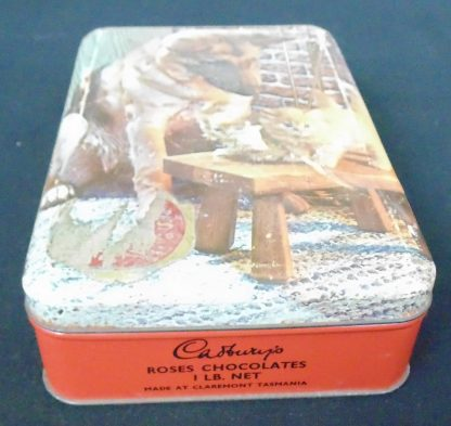 Cadbury's Rose Chocolates 1Lb Net Tin Made in Tasmania Australia