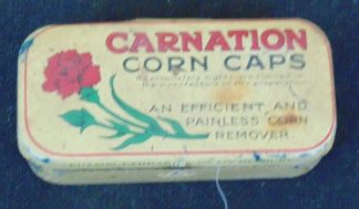 Carnation Corn Caps Remover Tin