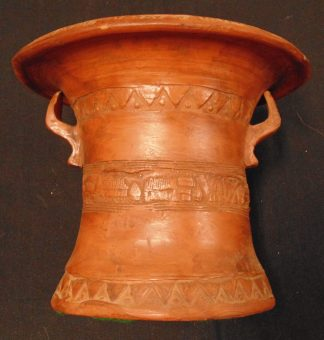 Terracotta Ornate Vase Hand made in Greece