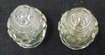 Crystal Sault and Pepper shakers on Stand