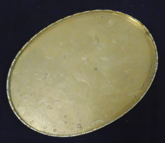 Brass Platter 2 sitting Monks