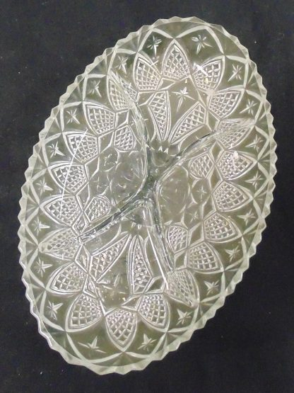 Glass serving platter with Metal Cary Basket