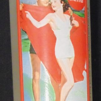 Coca Cola Lady in white Swimmers High Ball Glass