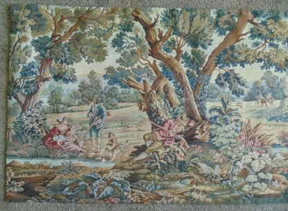 Period Hound Hunting Vista Tapestry - Wall Hanging