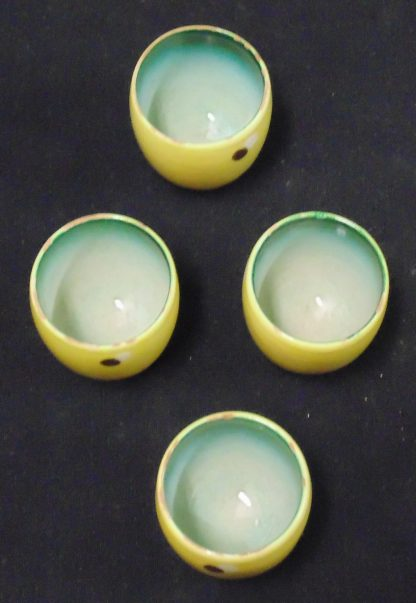 4 Hand Made Egg Cups Italy 295/4
