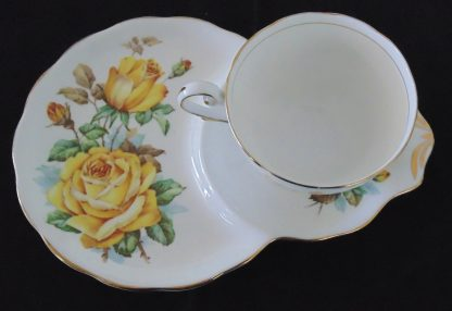 Royal Standard Fine Bone China Roses of Picardy Tennis Cup and Saucer
