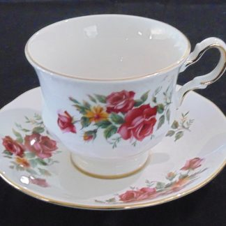 Queen Anne Bone China Cup and Saucer 8628