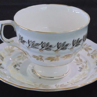Colclough Gold Leaf 7102 Cup and Saucer