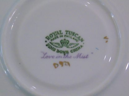 Royal Tuscan Fine Bone China Blue Flower Cup and Saucer