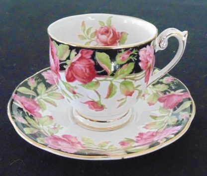 Queen Anne Black Magie Coffee Cup and Sucer