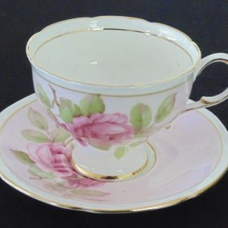 Paragon Fine Bone China Pink Rose Coffee Cup and Saucer
