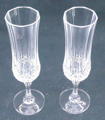 2 Crystal Champagne Flutes