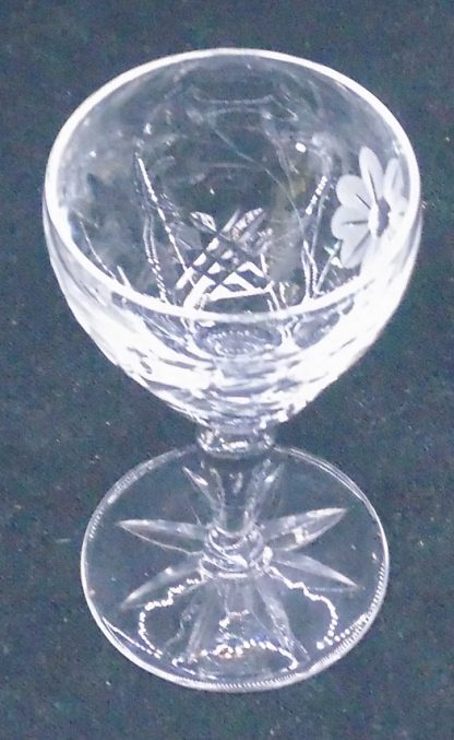 Etched and Cut Port Glass