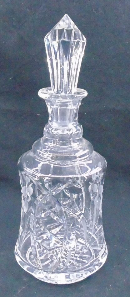 Cut Crystal Bell Shaped Decanter