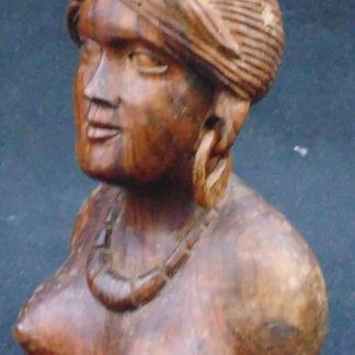 Wooden Female Bust