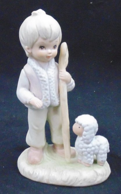 Child with sheep Statue The Timothy Collection