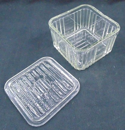 Gclear Glass Lidded Butter Container