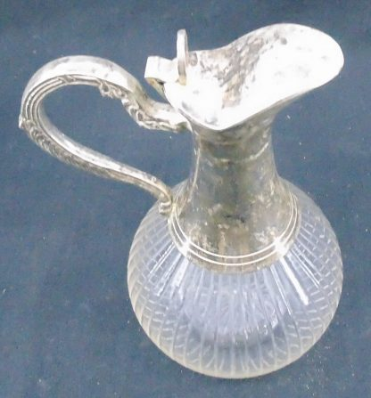 Glass and EPNS Silver Decanter