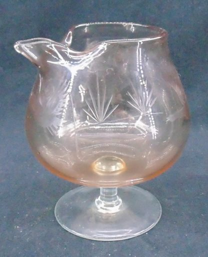 Cut Glass Brandy Balloon Jug with Duck carvings